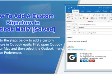 Custom signature in Outlook