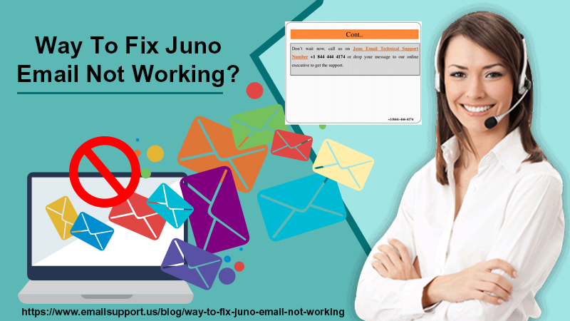 juno email not working