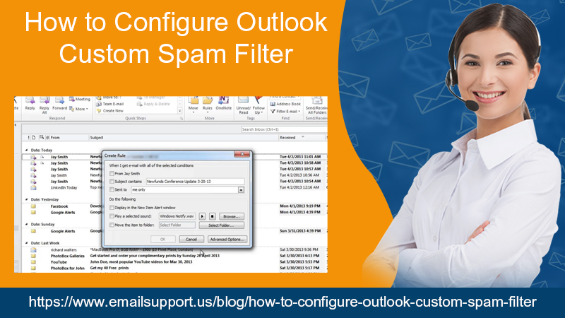 outlook custom filter