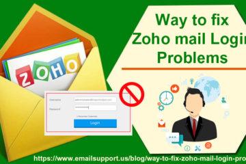zoho mail problems