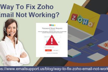 zoho email not working