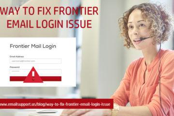 frontier login issue
