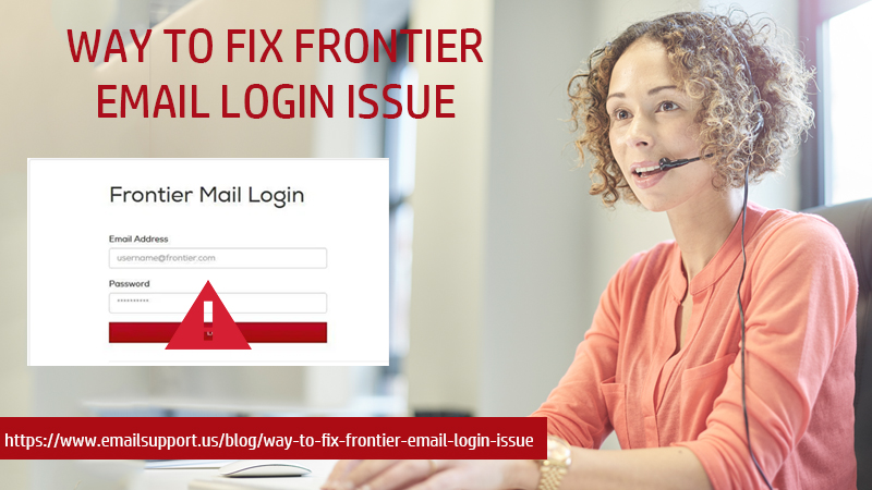 frontier login issue