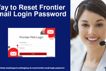 reset frontier email login password
