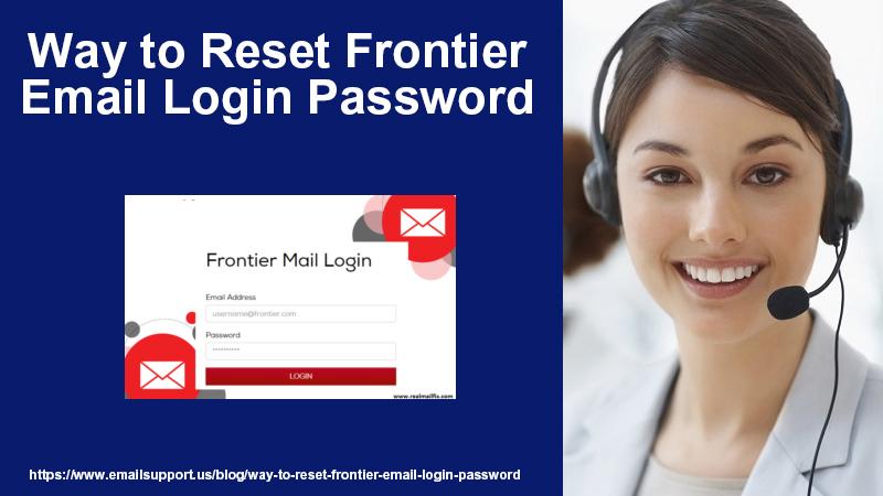 reset frontier email login password