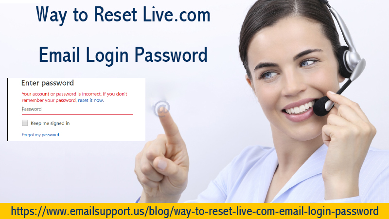 reset live.com password