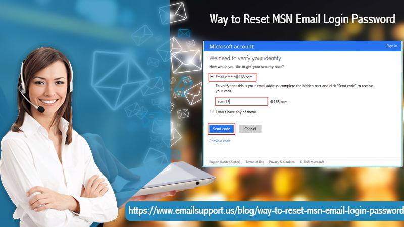 reset msn mail login password