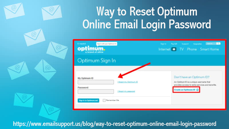 reset optimum online mail login password