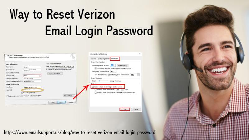 reset verizon email password