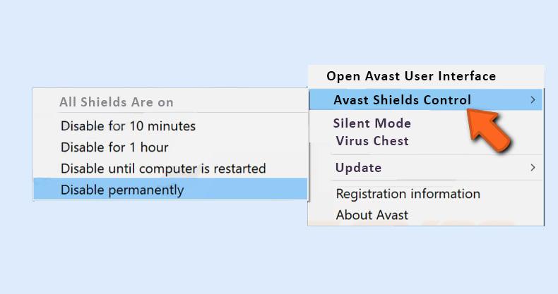 Temporary Remove Antivirus Program
