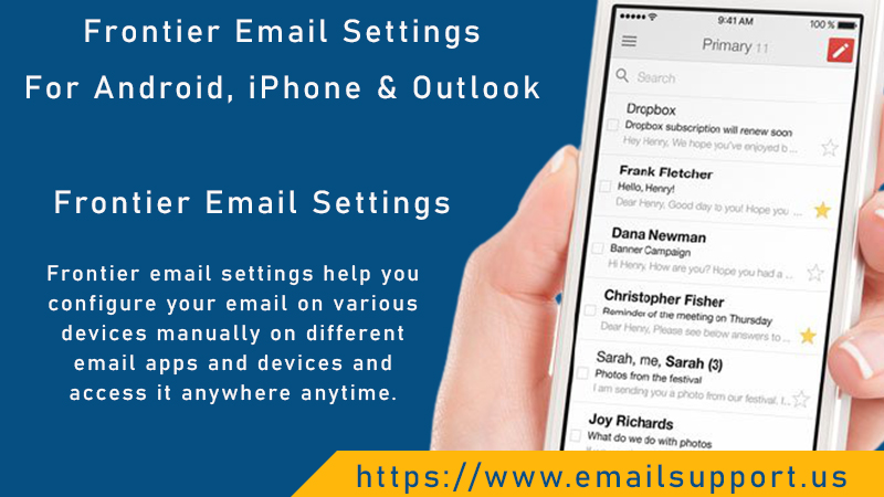 Frontier Email Settings