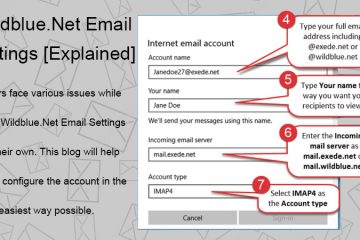 Wildblue.net email settings