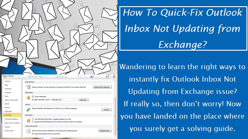 Outlook Inbox Not Updating from Exchange
