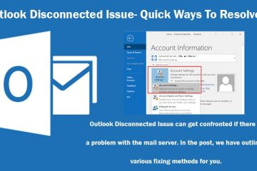 Outlook disconnected issue