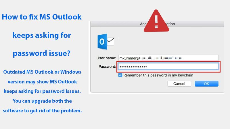 Outlook Keeps Asking for password