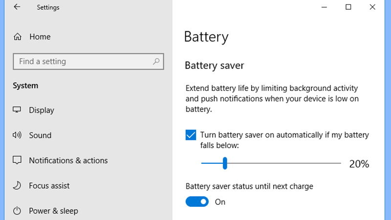 Turn off the Battery Saver