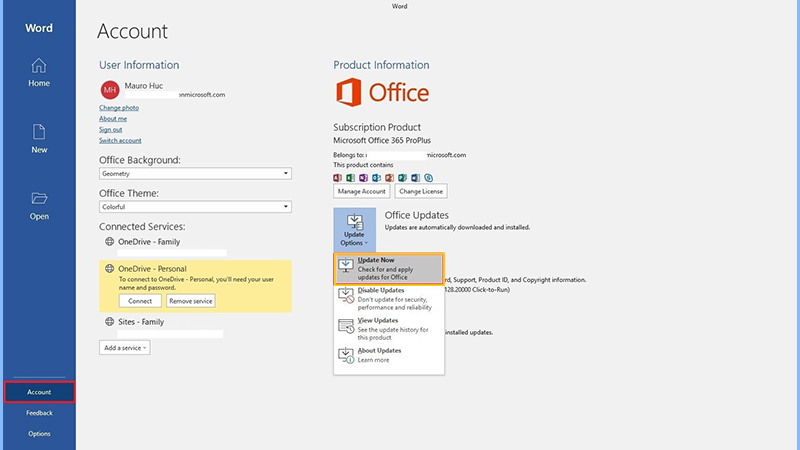Update your MS Office