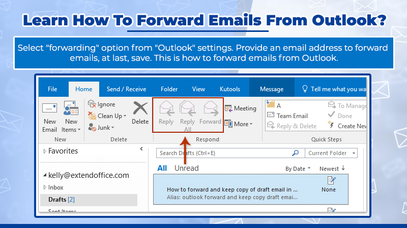 How to forward emails from Outlook