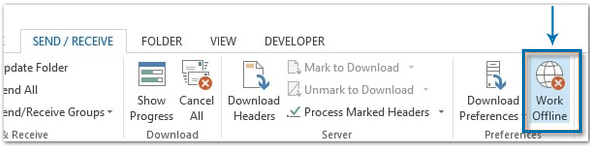 Check if Outlook is Set to Offline