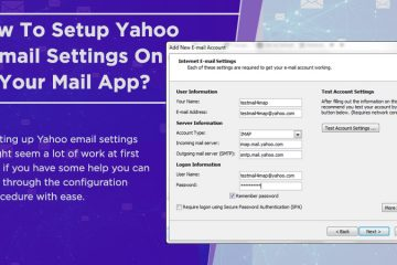 Yahoo email settings