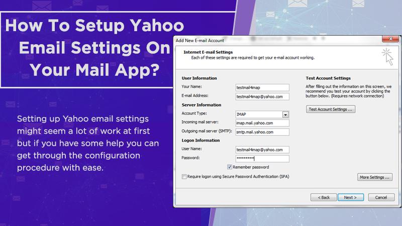Yahoo email settings