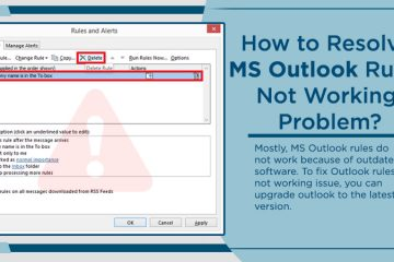 MS Outlook Rules Not Working