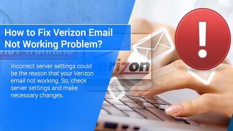 Verizon Email not Working