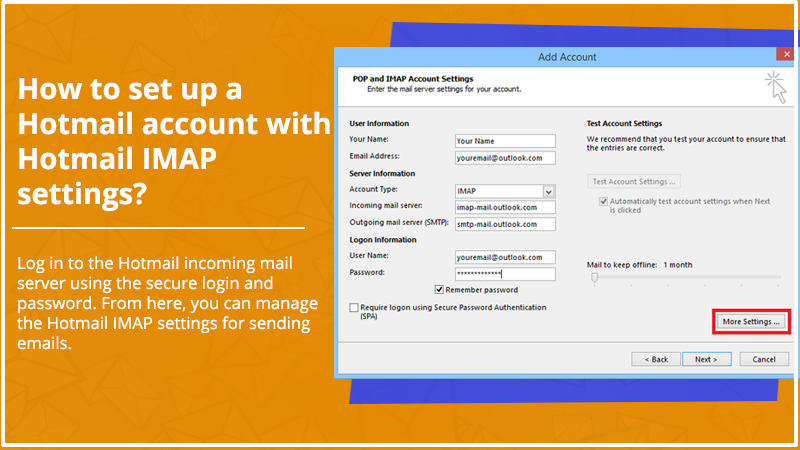 Hotmail IMAP settings