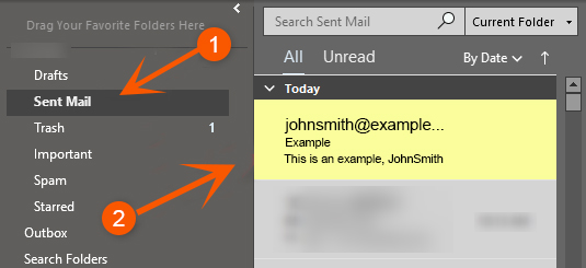 Recall an Email in Outlook - 1