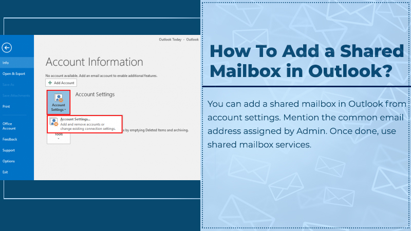 Add a Shared Mailboxes In Outlook?