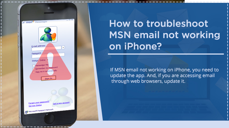 MSN email not working on iPhone
