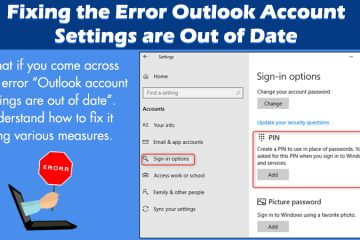 Outlook account settings are out of date