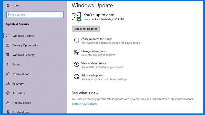 Windows updation
