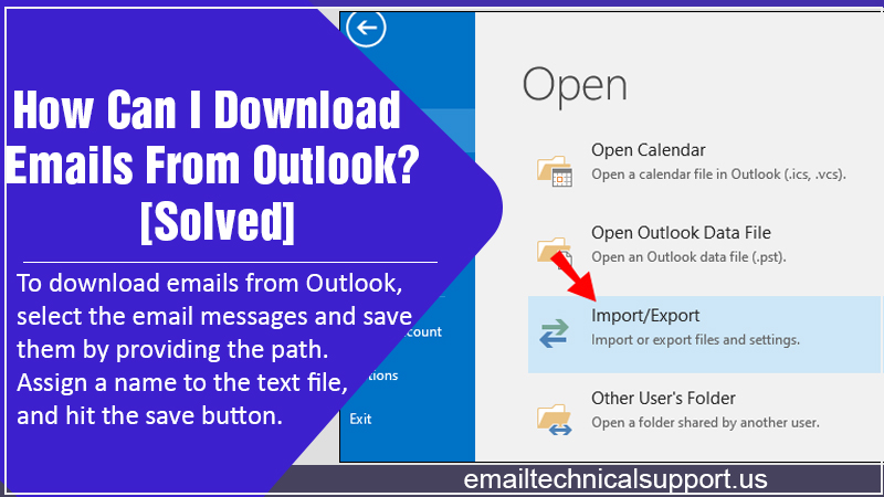 Download Emails From Outlook