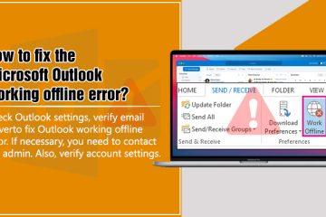 Outlook working offline error