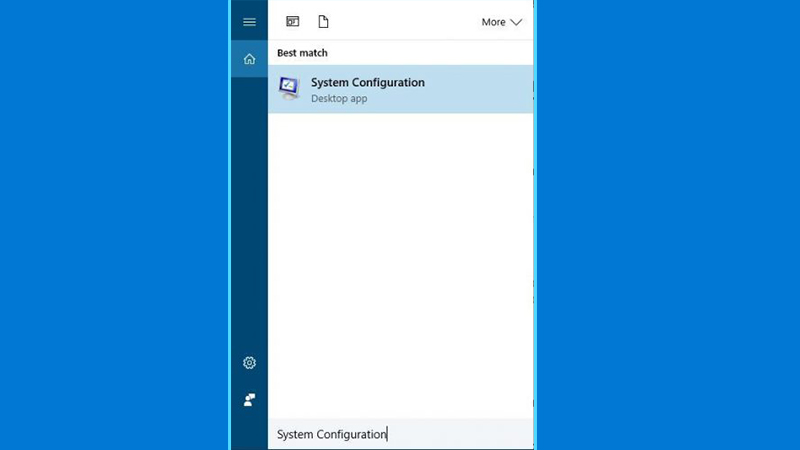 """choose the """" system configuration"""" option"""