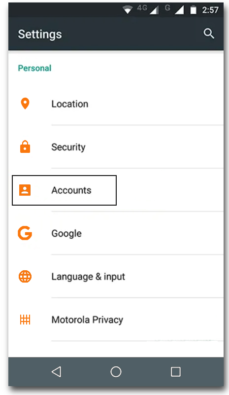 Remove Gmail Account and Add Again - 1