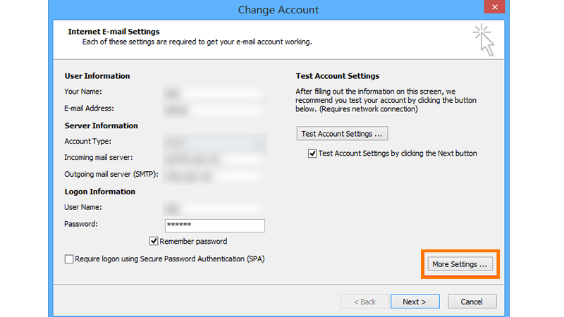 Change the Outgoing SMTP Port 2