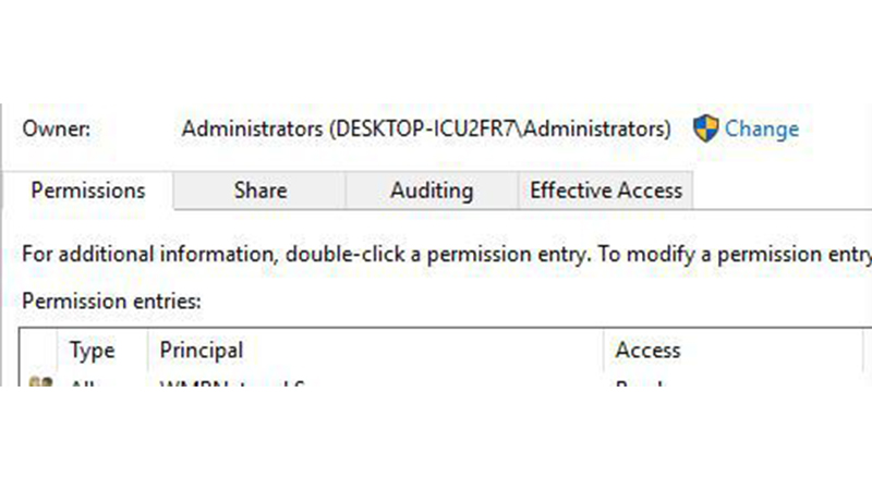 Check Ownership of Data File 2