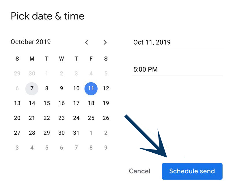 Schedule an Email in Gmail on Computer 3