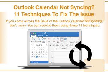 Outlook Calendar Not Syncing