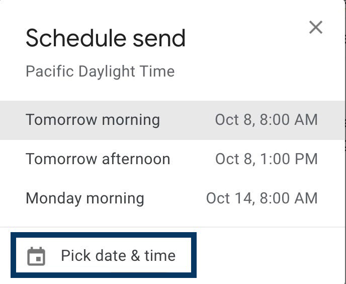 Schedule an Email in Gmail on Computer 2