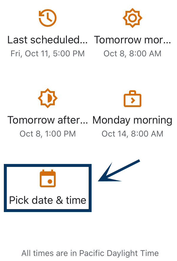 Schedule an Email in Gmail Using the Smartphone Device 2
