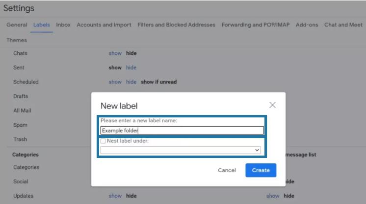 Create Folders In Gmail for Desktop 4