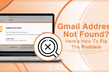 Gmail Address Not Found